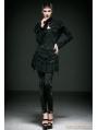 Black Gothic Fringe Jacquard Legging for Women