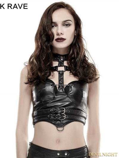 SALE!Black Gothic Punk Sexy Vest for Women