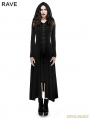 SALE!Black Gothic Long Knit Hooded Dress