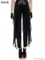 Black Gothic Forktail Trousers for Women