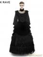 Black Gothic Palace Big Swing Long Skirt