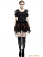 Black Gothic Lolita Pastoral Style T-Shirt for Women