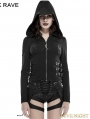 SALE!Black Gothic Punk Hollow-Out Wings Sweater with Hood