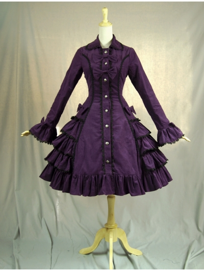 Purple Classic Sweet Lolita Outfit