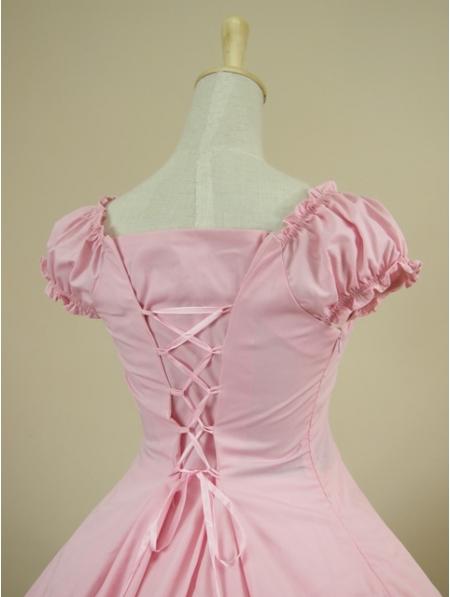 Pink Short Sleeves Classic Sweet Lolita Dress Devilnight