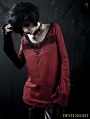 Red Gothic Punk Pin T-Shirt for Women