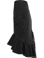 Black Gothic Vintage Palace Fishtail Skirt