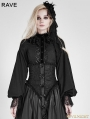 SALE!Black Gothic Palace Style Chiffon Blouse for Women