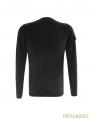 Black Gothic Military Uniform Style T-Shirt for Men