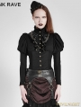 SALE!Black Steampunk Corset Long Shirt for Women