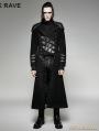 SALE!Black Gothic Military Uniform Woolen Long to Short Coat for Men