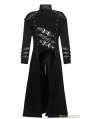 Black Gothic Military Uniform Woolen Long to Short Coat for Men