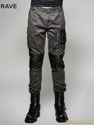 Gothic Old Style Military Style Trouser for Men
