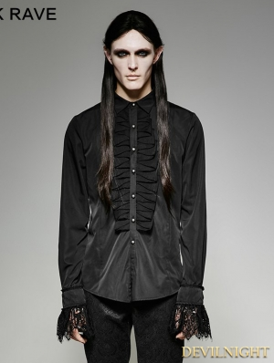Black Gothic Classic Shirt for Men