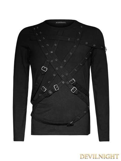 SALE!Black Gothic Cross Blets T-Shirts for Men