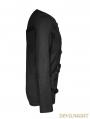 Black Gothic Cross Blets T-Shirts for Men
