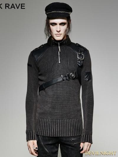 SALE!Steampunk Belt Sweater for Men
