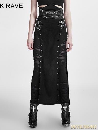 SALE!Black Gothic Punk Split Skirt for Women