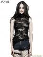 SALE!Black Gothic Decadent Sleeveless T-Shirt for Women