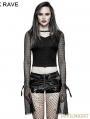 Black Gothic Punk Short T-Shirt for Women