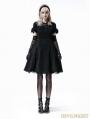 Black Gothic Lolita Short Sleeve Woolen Dress