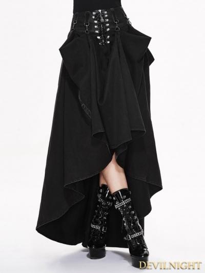 SALE!Black High Waist Gothic Skirt