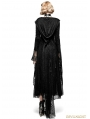 Black Gothic Spider Web Sun Block Long Coat for Women