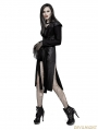 Black Heavy Gothic Punk Fly Sleeve Coat for Women
