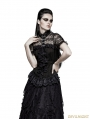 Black Gothic Steampunk Ruffles Shirt for Women