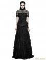 Black Gothic Steampunk Ruffles Shirt for Women