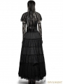 Black Asymmetric Cape Style Gothic T-shirt for Women