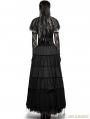 Black Asymmetric Cape Style Gothic T-shirt for Women