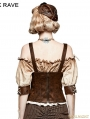 Leather Metal Back Zipper Steampunk Camisole For Women