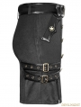 Black Gothic Military Uniform Belt Half Skirt For Women