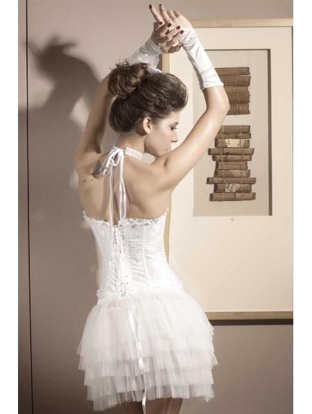 White Bridal Waist Training Overbust Corset Devilnight Co Uk