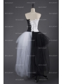 Black and White Alternative Gothic Punk Corset Prom Party Dress