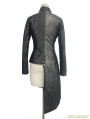 Black Gothic Punk Old Style Asymmetric Jacket For Women