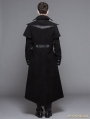 Black Vintage Gothic Long Cape Design Coat For Men