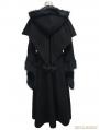 Black Gothic Dovetail Hooded Cape Long Coat For Women