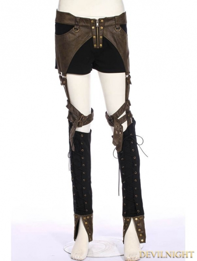 Steampunk Removable Legs Pants For Women