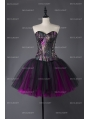 Steampunk Style Gothic Short Burlesque Corset Prom Party Dress