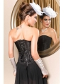 Black Pattern Gothic Overbust Corset