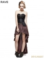 Coffee Steampunk High-Low Corset Dress
