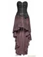 Coffee Steampunk High-Low Corset Dress