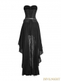 Black Steampunk High-Low Corset Dress