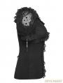 Black Gothic Lolita Puff Sleeve Short T-shirt for Women