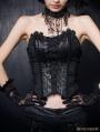 Black Gothic Phoenix Style Overlength Gauze Tail Croset