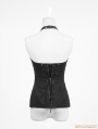 Black Gothic Around-neck Strap Back Zipper Corset