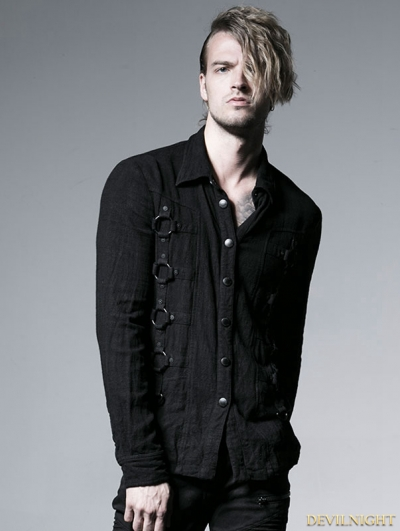 Gothic Dark Long Sleeves Shirt For Men