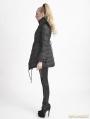 Black Gothic Flying Sleeves Long Down Coat For Women